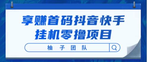 抖音快手挂机零撸项目【享赚首码】